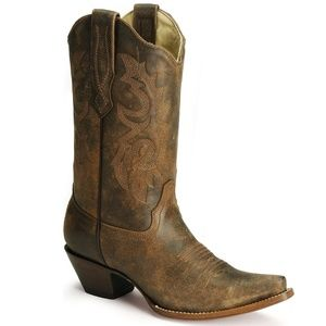 Corral Distressed Snip Toe Western Boots Wo's 8.5M